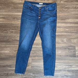 Madewell size 35 mid rise skinny jeans